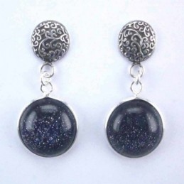 Earring Round +round 12mm....