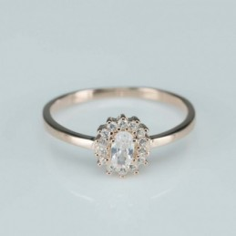 Ring   oval   9mm.  rose...
