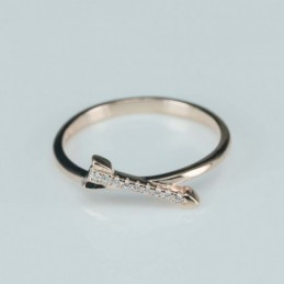 Ring   arrow  6mm.  rose...
