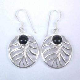 Earring Oval Onix Stone...