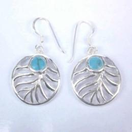 Earring Oval Turquoise...