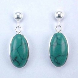 Earring Oval Turquoiase Stone