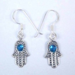 Earrings Hand With Stone Hook