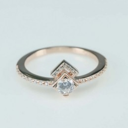 Ring   square  9mm.  rose...
