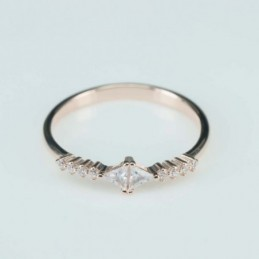 Ring  rhombus  5mm.  rose...