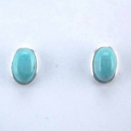 Earring Oval Turquoise Color