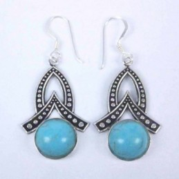 Earring Round Turquoise Color