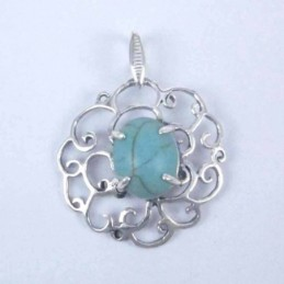 Pendant Oval Turquoise
