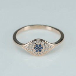 Ring   rhombus  7mm.  rose...