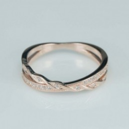 Ring   5mm.   rose  Circonia