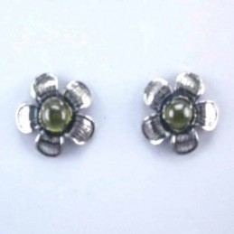 Earring Flower Olivine...