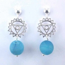 Earring Chakras with ball...