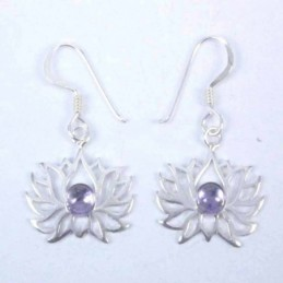 Earring Chakras with Stone