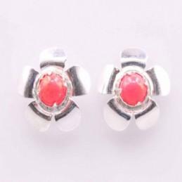 Earring Flower Chakras Stone