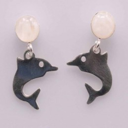 Earring Dolphin with Moon...