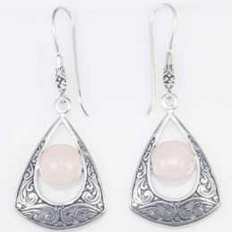 Earring Triangle Rose...