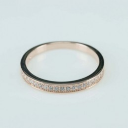 Ring   3mm.   rose  Circonia