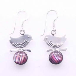 Earring Bird With  Round...