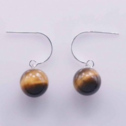 Earring Ball 10mm. Tiger...