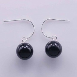 Earring Ball 10mm. Onix Stone