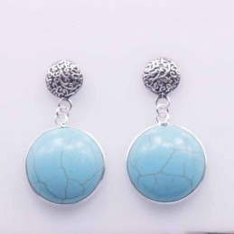Earring Round 8mm.+16mm...