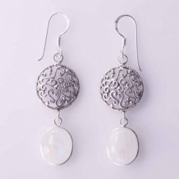 Earring Oval Plain14mm with...