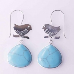Earring Bird with Drop...