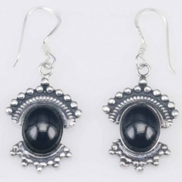 Earring Oval 16x18mm. Onix...