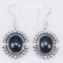 Earring Oval 15x18 mm  Onix...