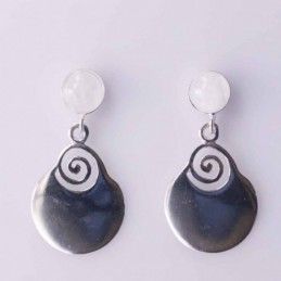 Earring Round 6mm. with...