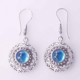 Earring Round 20mm.Stone...