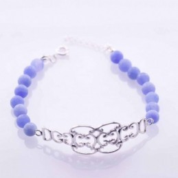 Bracelet Ball 6mm. Blue...