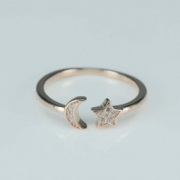 Ring  star  6mm.   rose...