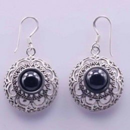 Earring Round 20mm. Stone