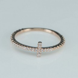 Ring  cross  6mm.   rose...
