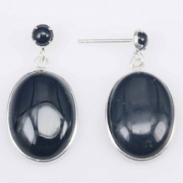 Earring Oval 13x18mm. with...