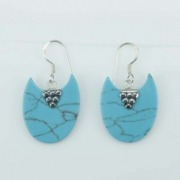 Earring Moon 18x21mm....