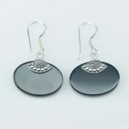Earring Oval 10x14mm. Onix...