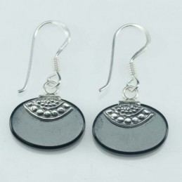 Earring Oval 13x18mm. Onix...