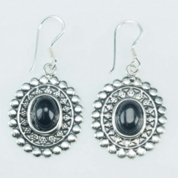 Earring Oval 17x18mm. Onix...