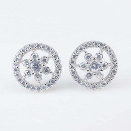 Earring Round Star 10mm....