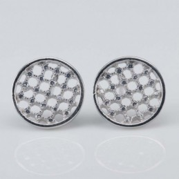 Earring Round 11mm. Circonia