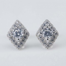Earring Rhombus 8x11mm....