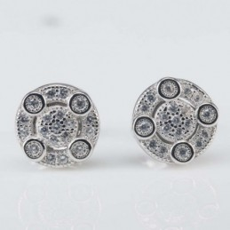 Earring  Round 9mm.Circonia