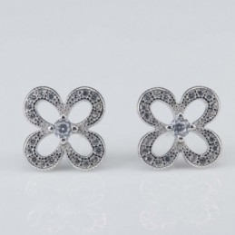 Earring Flower 11mm. Circonia