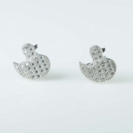 Earring Duck 10mm. Circonia