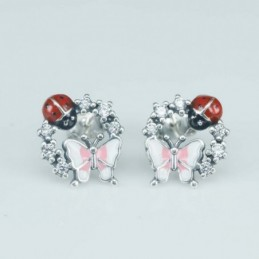 Earring  butterfly  13mm....