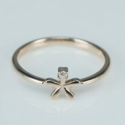 Ring  flower 7mm. Circonia...