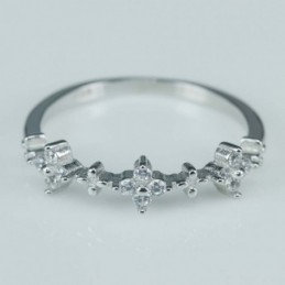 Ring  flower 5mm. Circonia
