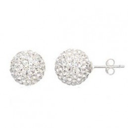 Earring ball 4mm. crystal...